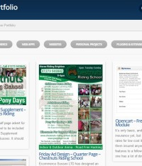 2x Adverts Designed and Submitted for Print for the Chestnuts Riding School